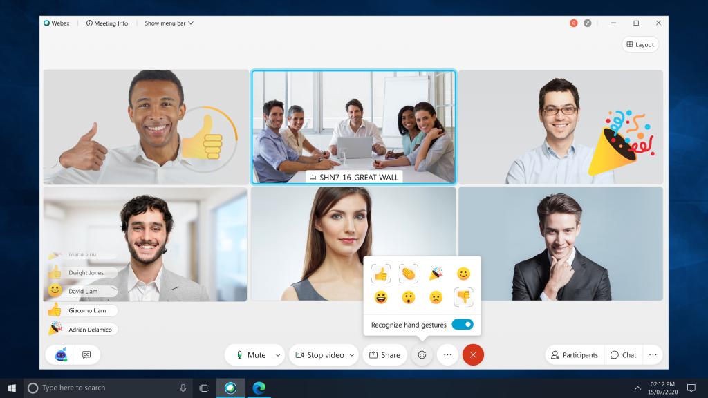 Cisco Webex - Emotionen in Videokonferenzen erkennen