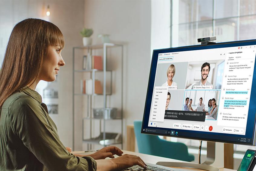 Cisco Webex Videokonferenzen - automatische Transkription