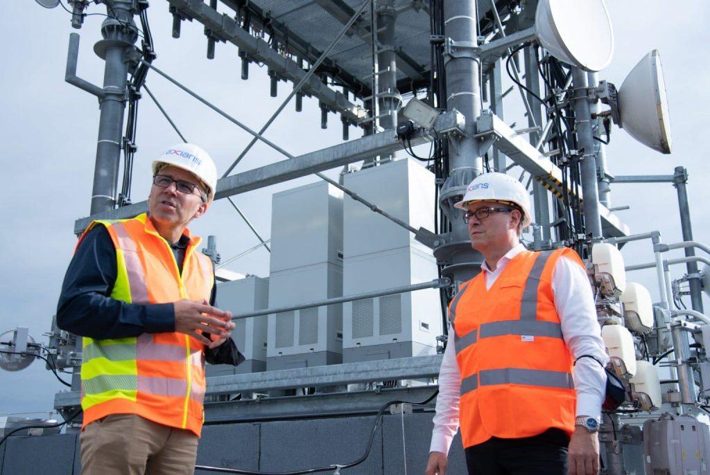 5G LTE Antennenstandort Neu-Ulm Henry Frey Gespraech Jacques Diaz