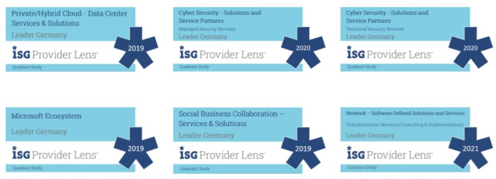 6-fach Auszeichnung ISG Provider Lens