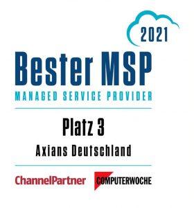 Bester Managed Services Provider 2021 Badge